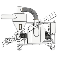 Пневмотранспортер зерна и других сыпучих материалов