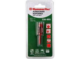 Алмазная трубчатая коронка Hammer Flex 226-005 DHS 15,0*65/5, A3, алмаз 60Р, керамогранит