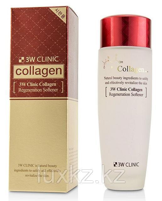 Регенерирующий тонер-софтнер с коллагеном 3W Clinic Collagen Regeneration Softener