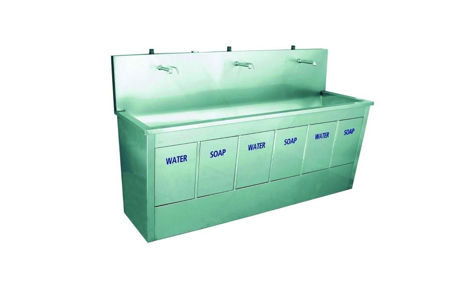 Ванна моечная из нержавейки, с тройной мойкой 55\/ 205 D