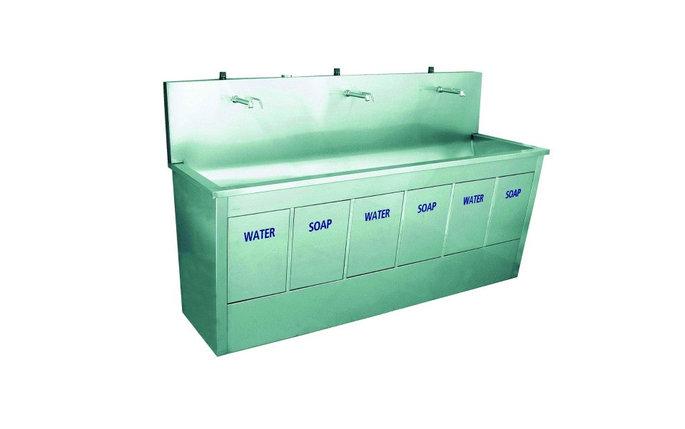 Ванна моечная из нержавейки, с тройной мойкой 55\/ 205 D, фото 2