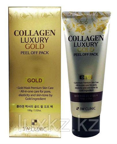 Маска-пленка на основе экстракта золота 3W Clinic Collagen Luxury Gold Peel Off Pack