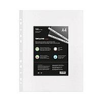 Файл-вкладыш пластиковый Deluxe Clear A480M (A4, Прозрачный, 100 шт), фото 1
