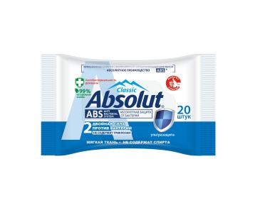 Антибактериальные влажные салфетки Absolut ABS