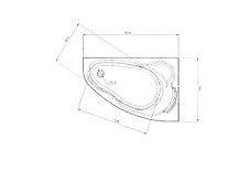 Акриловая ванна Marka One Lil (Лил) 140x90  см. (Правая) (Полный комплект) Ассиметричная. Угловая, фото 2