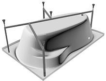 Акриловая ванна Marka One Lil (Лил) 140x90  см. (Правая) (Полный комплект) Ассиметричная. Угловая, фото 3