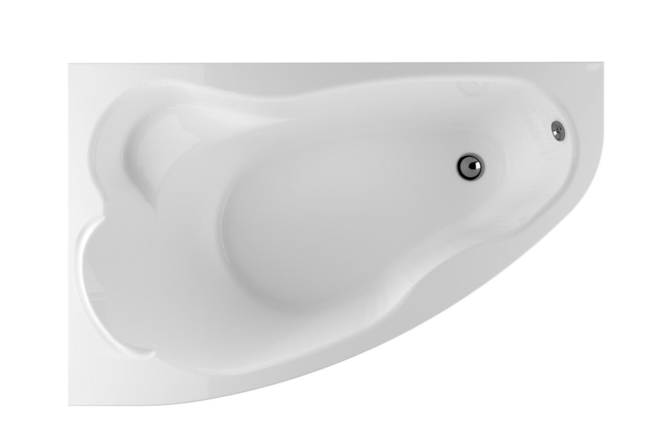 Акриловая ванна Marka One Lil (Лил) 140x90  см. (Левая) (Полный комплект) Ассиметричная. Угловая