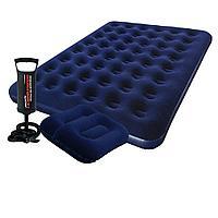 Надувной матрас Pavillo Bestway 67004-1, 183 х 203 х 22 см, с двумя подушками и насосом. Двухместный