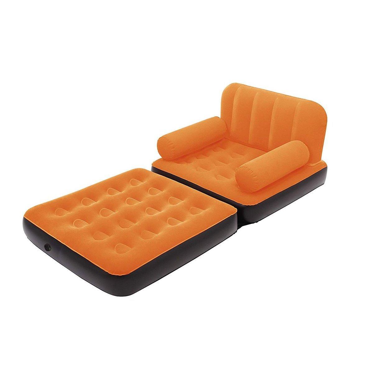 Надувное раскладное кресло Bestway 67277, 191 х 97 х 64 см, оранжевое