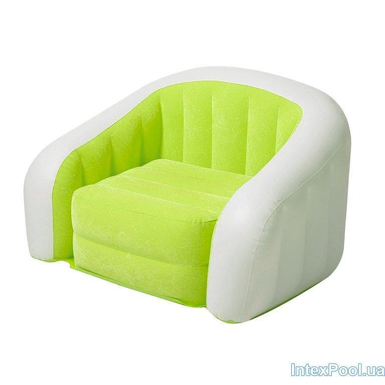 Архивный. Детское надувное кресло Intex 68597, зеленое