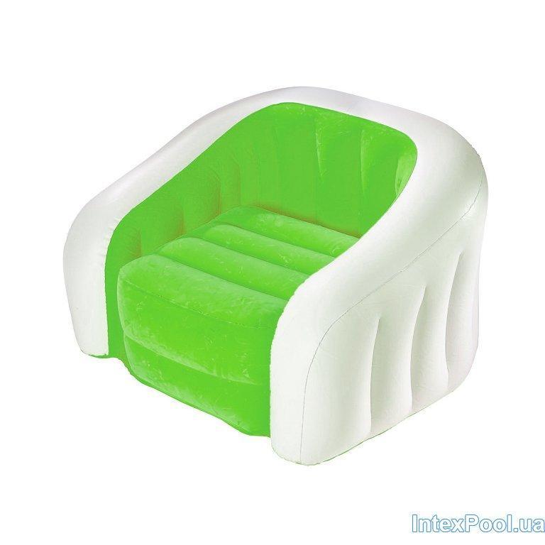 Архивный. Надувное кресло Intex 68571, зеленое