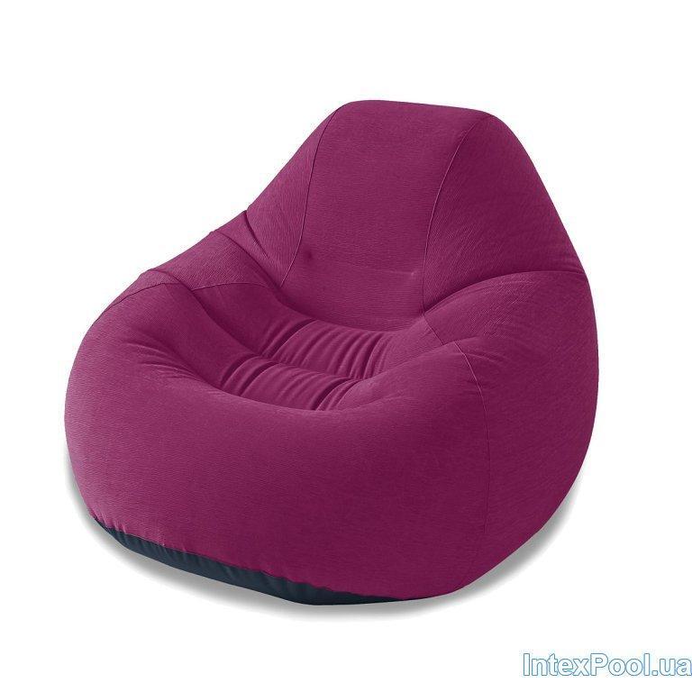 Архивный. Надувное кресло Intex 68584, бордовое, 122 х 127 х 81 см