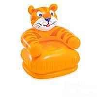 Детское надувное кресло Тигр Intex 68556, 65 х 64 х 74 см, оранжевое