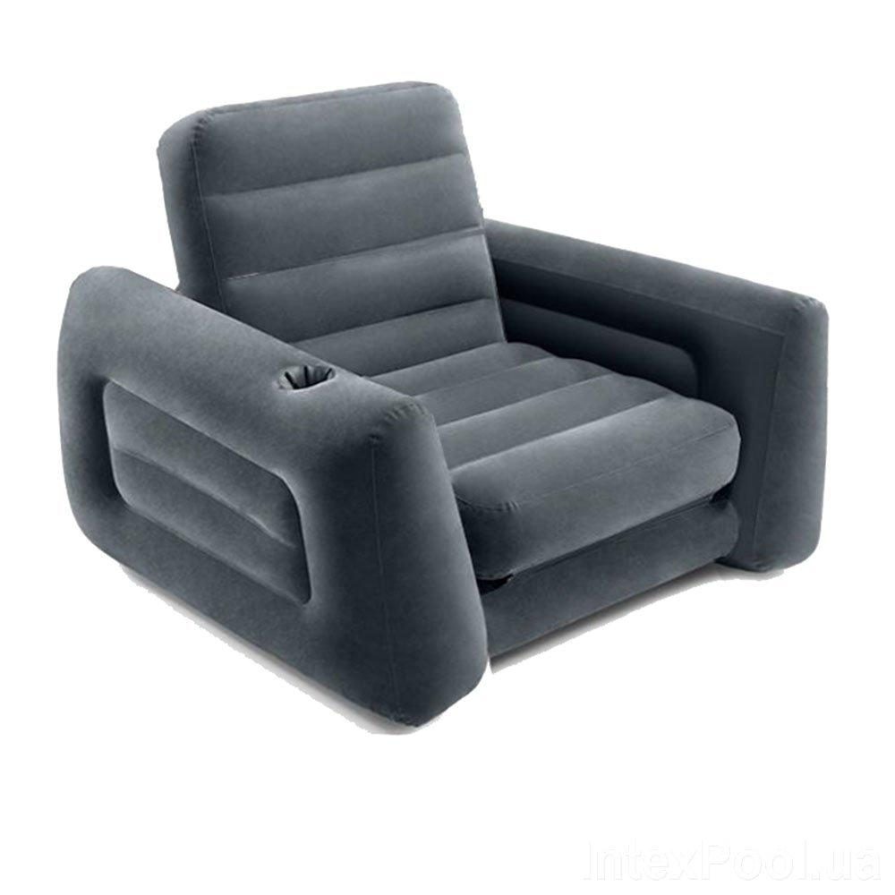 Надувное кресло Intex 66551, 224 х 117 х 66 см, черное
