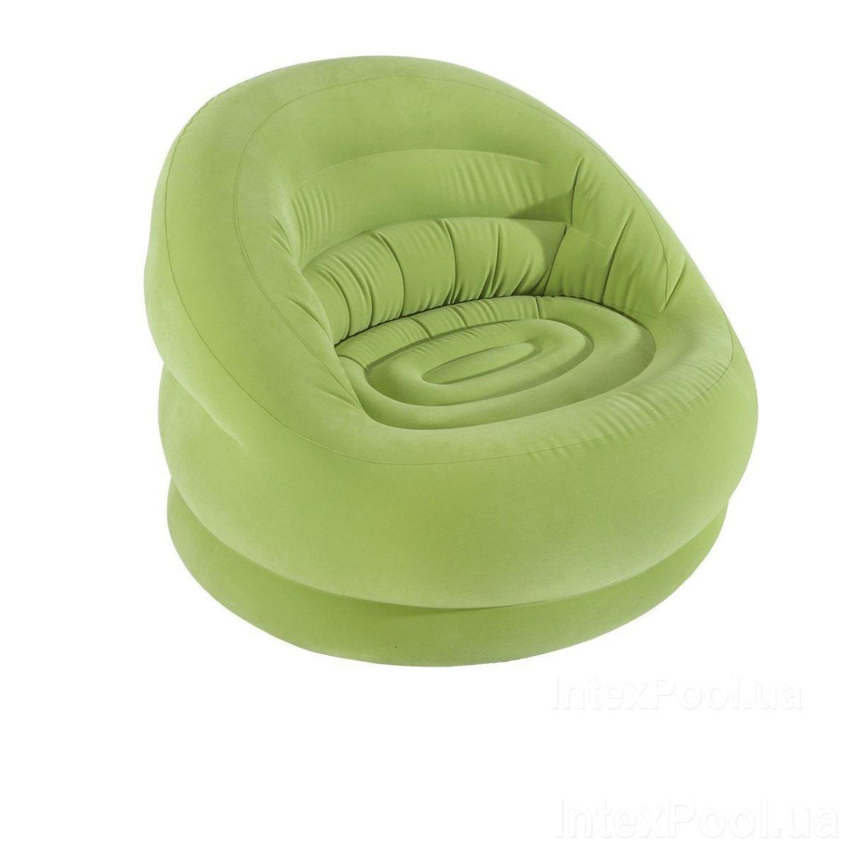 Надувное кресло Intex 68577, 112 см x 104 см x 79 см, зеленое
