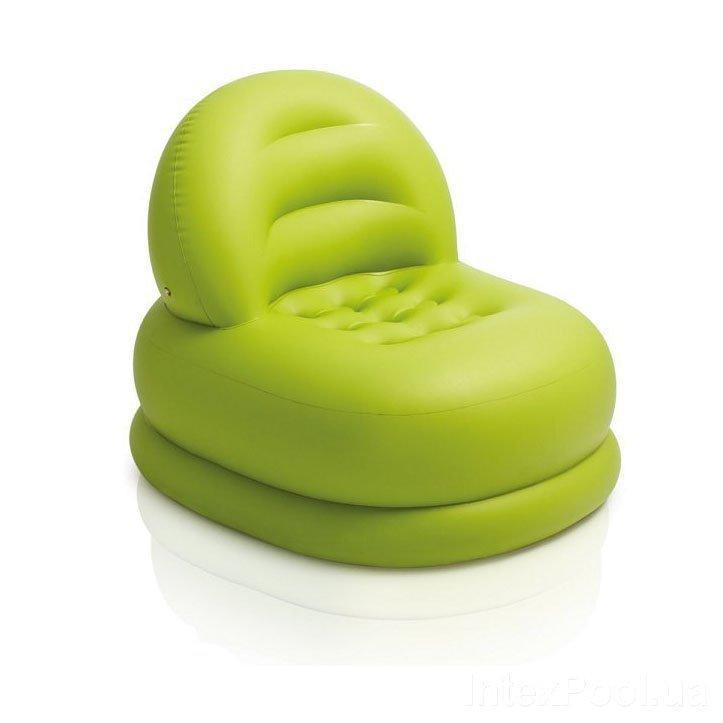 Надувное кресло Intex 68592, 99 х 84 х 76 см, зеленое