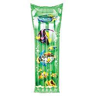Надувной матрас Bestway 44035 Тропические рыбки, зеленый, 183 х 69 см