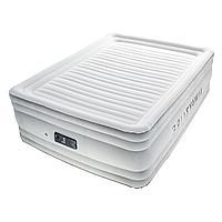 Архивный. Надувная кровать Bestway 67570, белая, встроенный электронасос, 152 х 203 х 56 см. Двухспальная