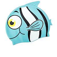 Шапочка для плавания Bestway 26025 Рыбка, размер S, (3+), обхват головы ≈ 50 см, (21 х 17, 5 см), голубая