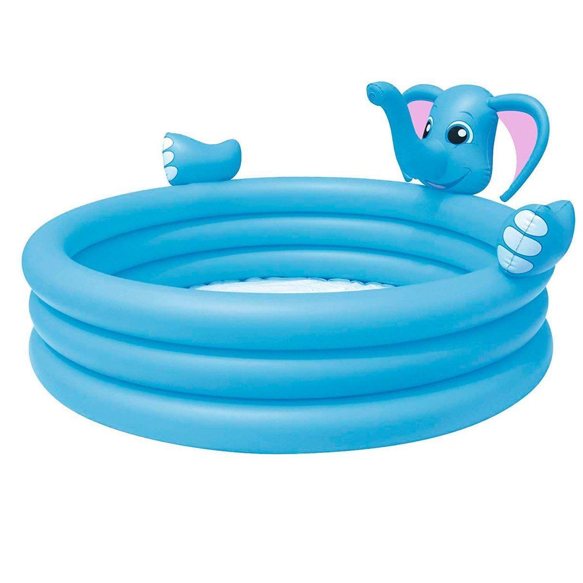 Детский надувной бассейн Bestway 53048 Слоник, 152 х 152 х 74 см, с фонтаном