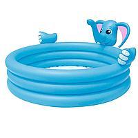 Детский надувной бассейн Bestway 53048 Слоник, 152 х 152 х 74 см, с фонтаном, фото 1