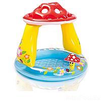 Детский надувной бассейн Intex 57114 Грибочек, 102 х 89 см