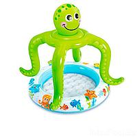 Детский надувной бассейн Intex 57115 Осьминог, 102 х 104 см