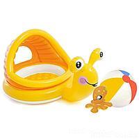 Детский надувной бассейн Intex 57124-2, 145 х 102 х 74 см, с мячом, с игрушкой