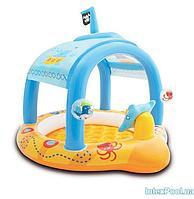 Детский надувной бассейн Intex 57426 Маленький капитан, 107 х 102 х 99 см