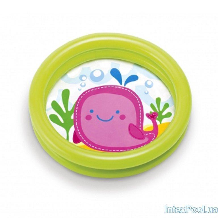 Детский надувной бассейн Intex 59409, зелёный, 61 х 15 см