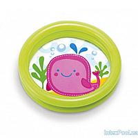 Детский надувной бассейн Intex 59409, зелёный, 61 х 15 см, фото 1