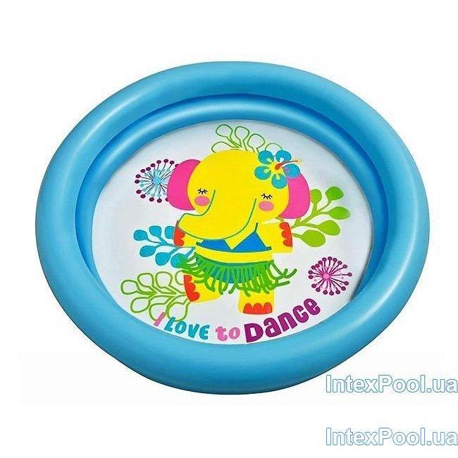 Детский надувной бассейн Intex 59409, фиолетовые,  61 х 15 см