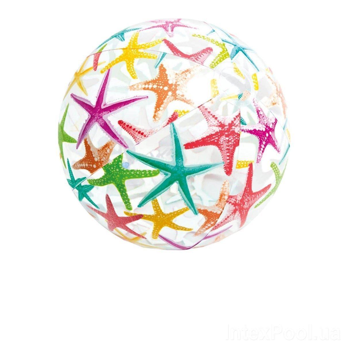 Надувной мяч Intex 59040 Морские звездочки, 51 см