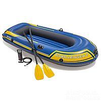 Двухместная надувная лодка Intex 68367 Challenger 2 Set, 236 х 114 х 41 см, с веслами и насосом