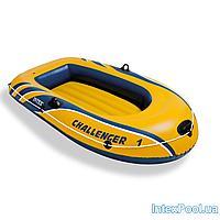 Одноместная надувная лодка Intex 68365 Challenger 1, 193 х 108 х 38 см