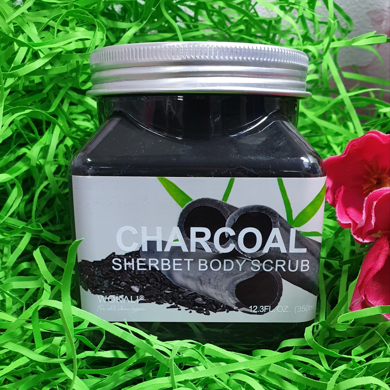 Скраб для тела SHERBET BODY SCRUB CHARCOAL 350 ml.