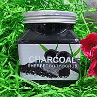 Скраб для тела SHERBET BODY SCRUB CHARCOAL 350 ml., фото 1
