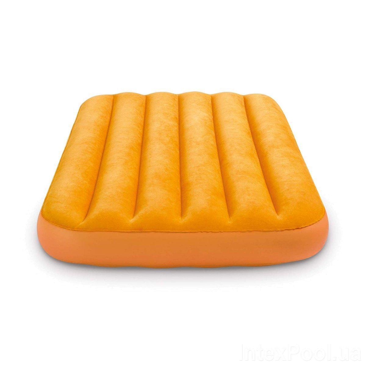 Надувной матрас Intex 66803, 88 x 157 x 18 см. Оранжевый. Одноместный