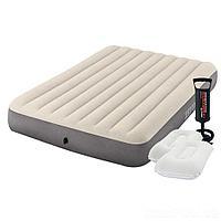 Надувной матрас Intex 64103-2, 152 х 203 х 25 см, с насосом, подушками. Двухместный