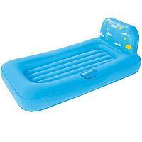 Детская надувная кровать с проэктором Bestway 67496, голубая, 132 х 76 х 46