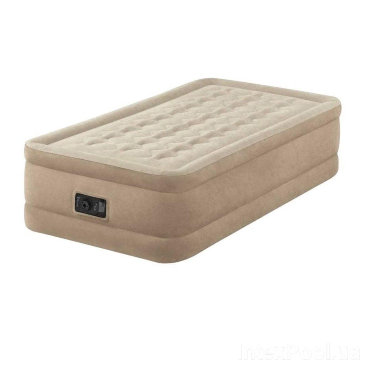 Надувная кровать Intex 64426, 99 х 191 х 46, со встроенным электрическим насосом. Односпальная