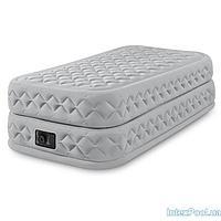 Надувная кровать Intex 66964, 99 х 191 х 51 см, встроенный электронасос. Односпальная