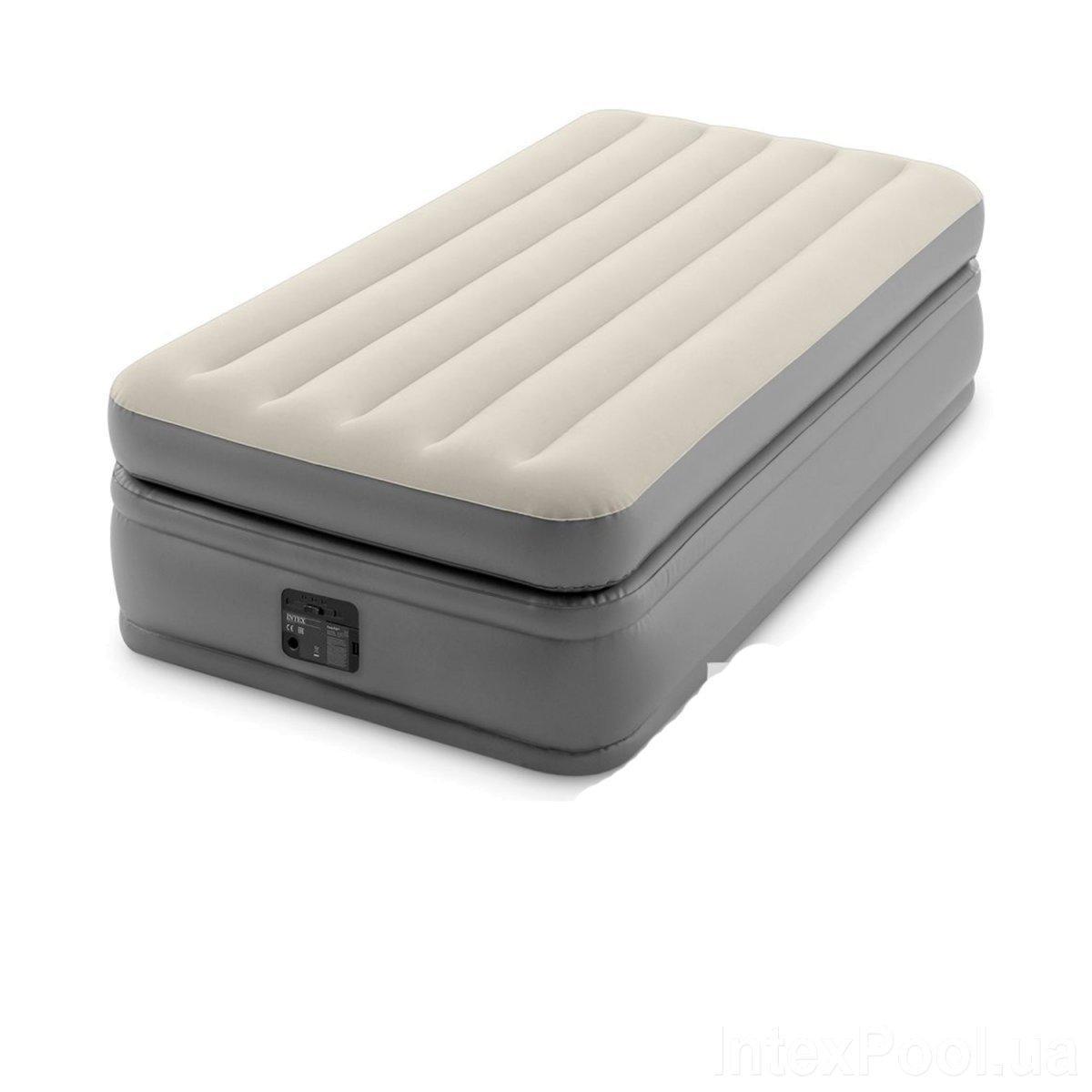 Надувная кровать Intex 64162, 99 х 191 х 51, со встроенным электрическим насосом. Односпальная