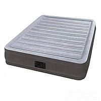 Надувная кровать Intex 67768, 137 x 191 x 33 , встроенный электронасос. Полутороспальная