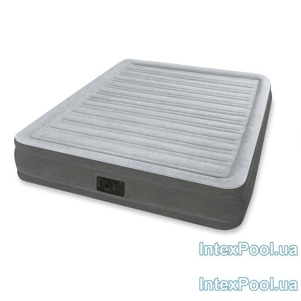 Надувная кровать Intex 67770, 152 х 203 х 32 , встроенный электронасос. Двухспальная