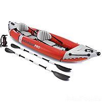 Двухместная надувная байдарка (каяк) Intex 68309 Excursion Pro, 384 х 94 х 46 см, с веслами и насосом