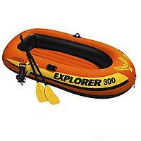 Двухместная надувная лодка Intex 58332 Explorer 300 Set, 211 х 117 х 41 см, с веслами и насосом