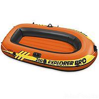 Полутораместная надувная лодка Intex 58356 Explorer Pro 200, 196 х 102 х 33 см