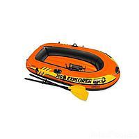 Полутораместная надувная лодка Intex 58357 Explorer Pro 200 Set, 196 х 102 х 33 см, с веслами и насосом