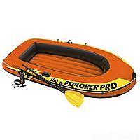 Полутораместная надувная лодка Intex 58358 Explorer Pro 300 Set, 244 х 117 х 36 см, с веслами и насосом